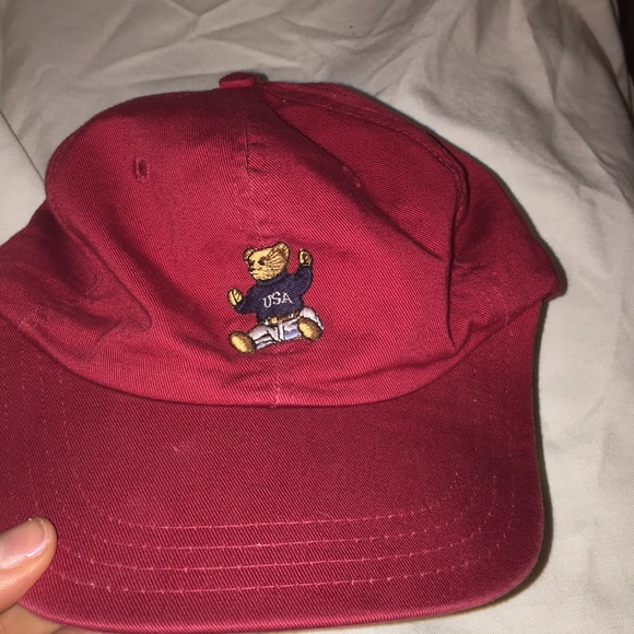 Vintage Ralph Lauren teddy bear baseball hat. M 5aab59701dffdab68474e2b7 d4256523766